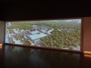 Animasi 3D yang isinya interior dan arsitektur Istana Gyeongbokgung