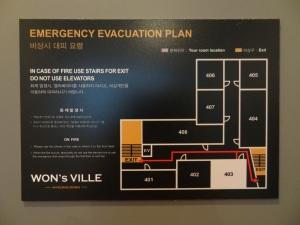 Emergency Evacuation Plan...ada di deket pintu kamar